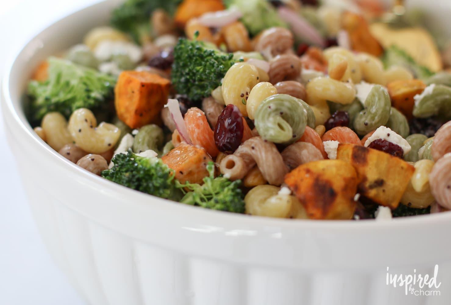 Fall Harvest Pasta Salad | inspiredbycharm.com
