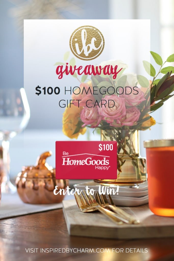 HomeGoods Gift Card Giveaway / Fall Entertaining-Around-My-House Tour| inspiredbycharm.com