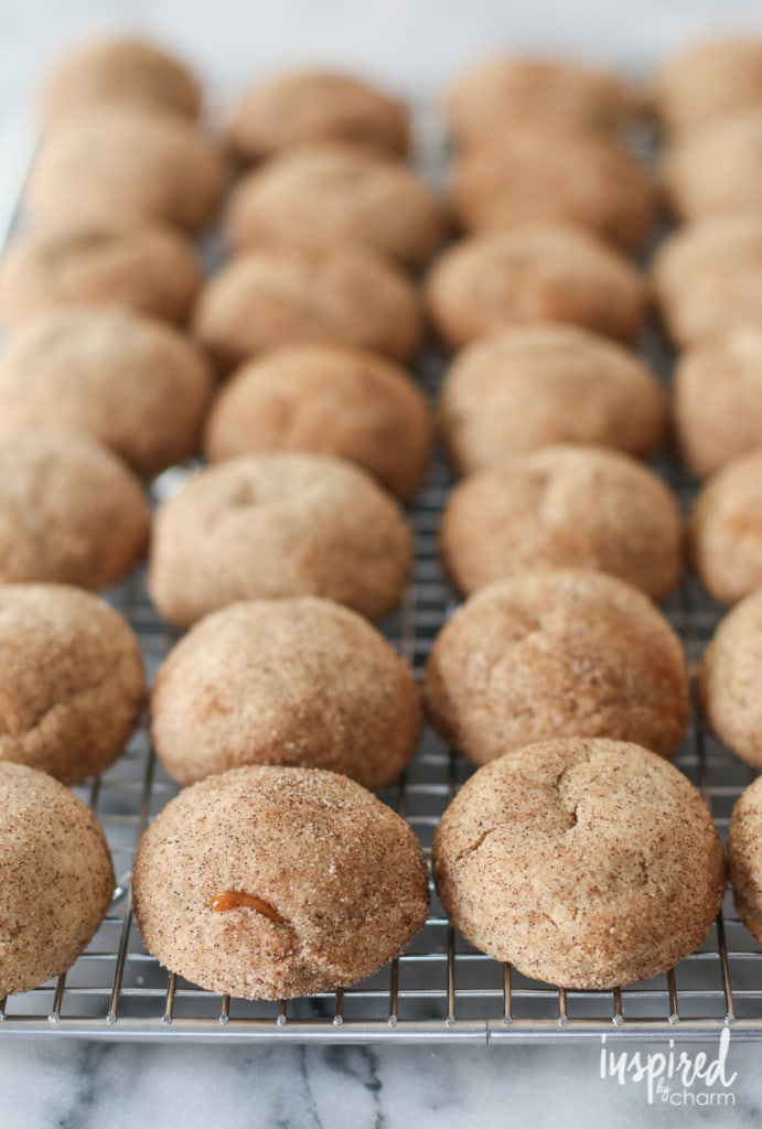Caramel Apple Butter Snickerdoodles | inspiredbycharm.com