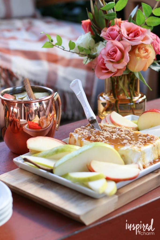 Caramel Apple Cream Cheese Spread | inspiredbycharm.com