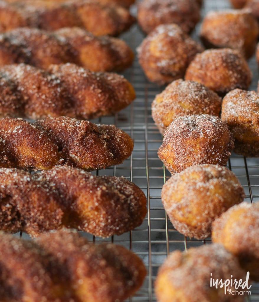 Baked Pumpkin Donuts | inspiredbycharm.com
