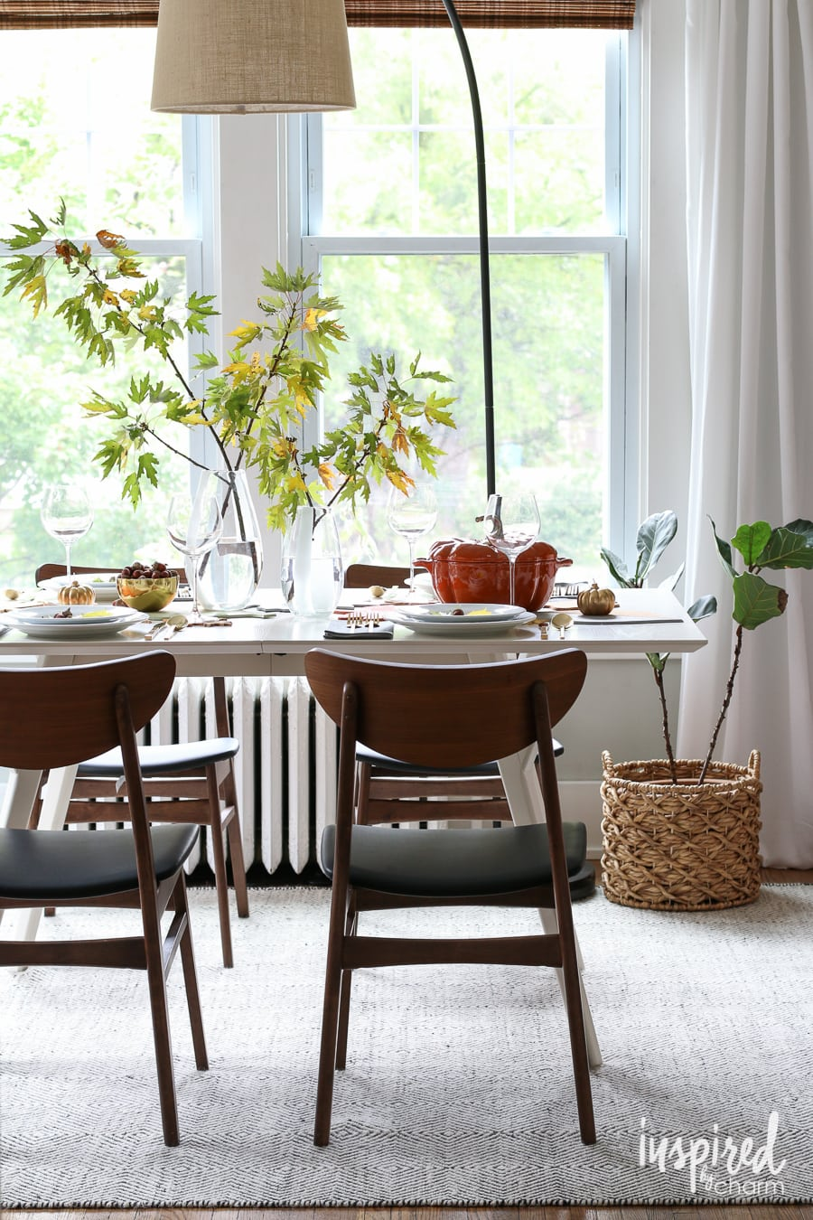 fall colorblock cork table decor - inspiredcharm
