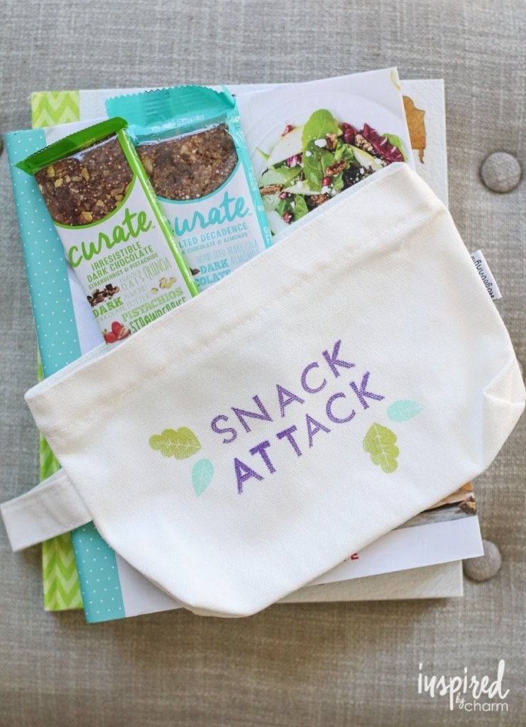 DIY Stamped Snack Bags | inspiredbycharm.com