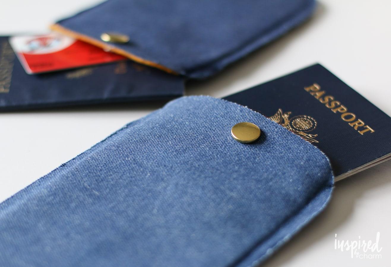 DIY No-Sew Passport Cover | inspiredbycharm.com