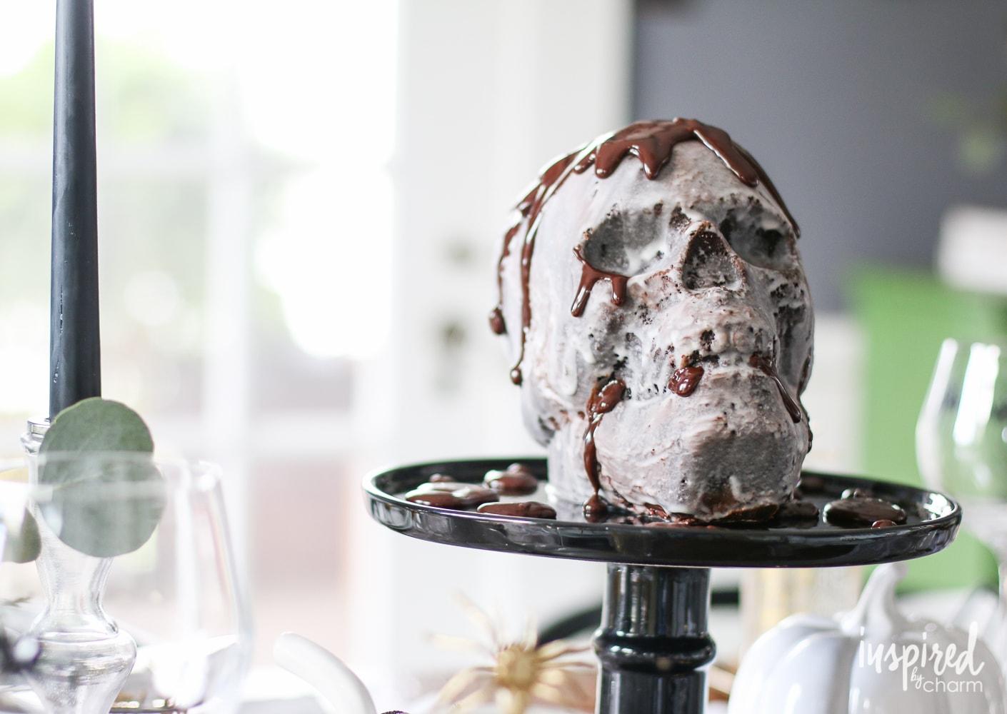 Chocolate Skull Cake | inspiredbycharm.com