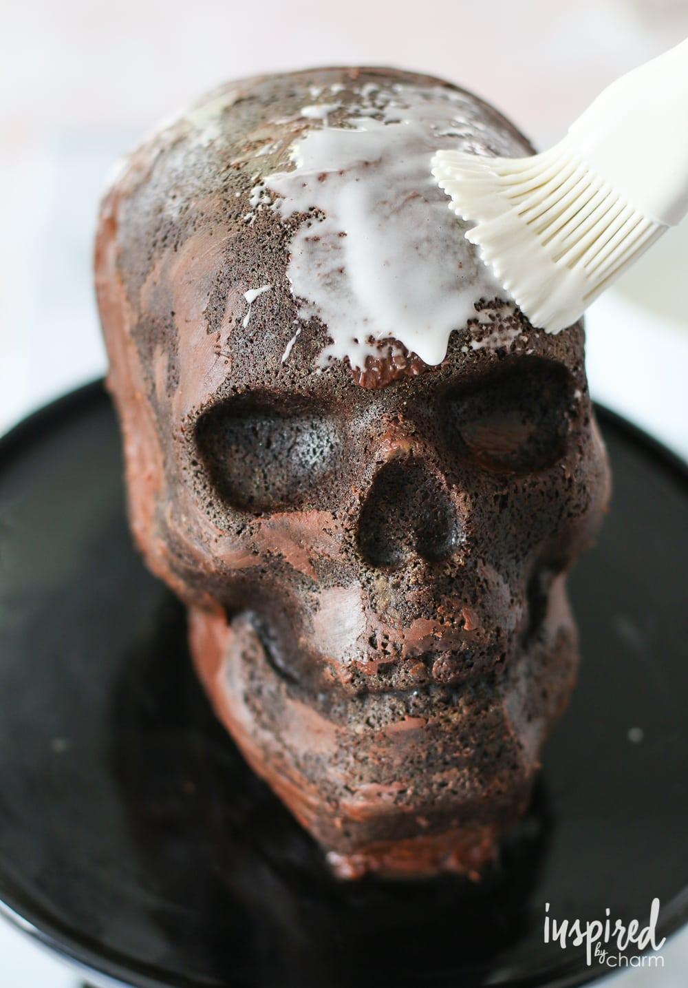 Chocolate Skull Cake Inspired By Charm