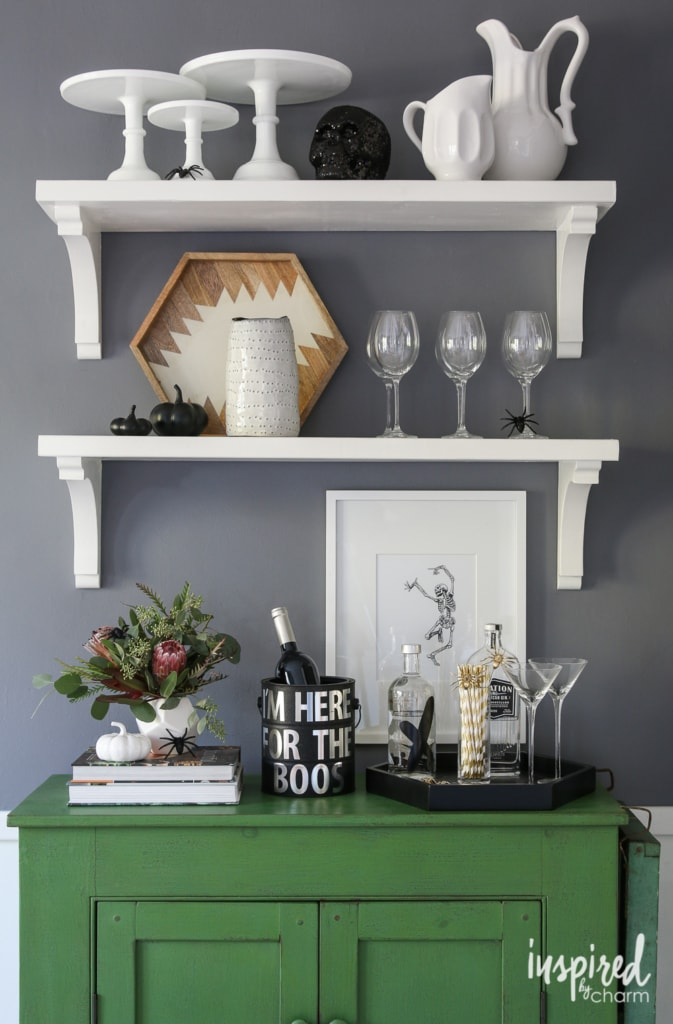 Haunted Halloween Table Decor Ideas | inspiredbycharm.com