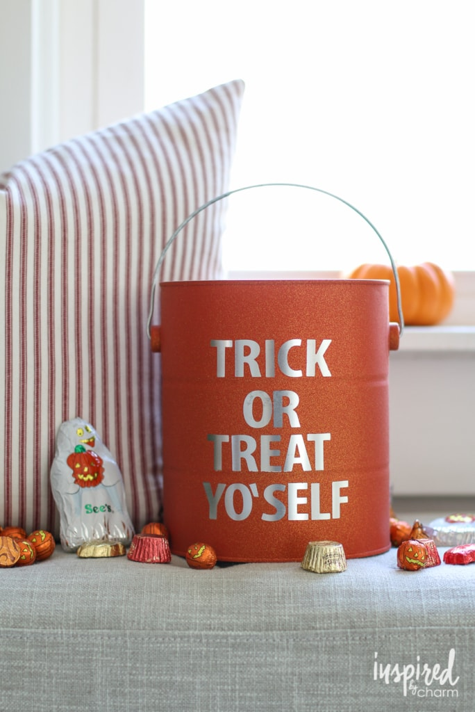 DIY Halloween Paint Can Decor | inspiredbycharm.com