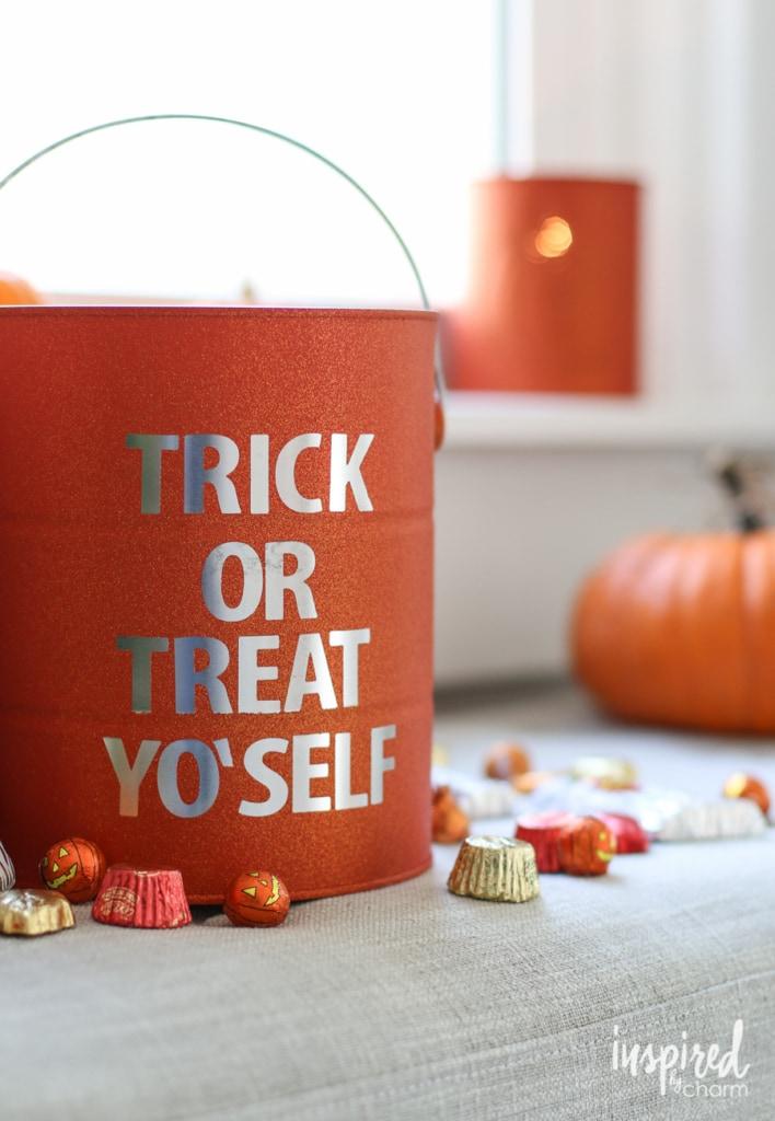 DIY Halloween Paint Can Decor | inspiredbycharm.com