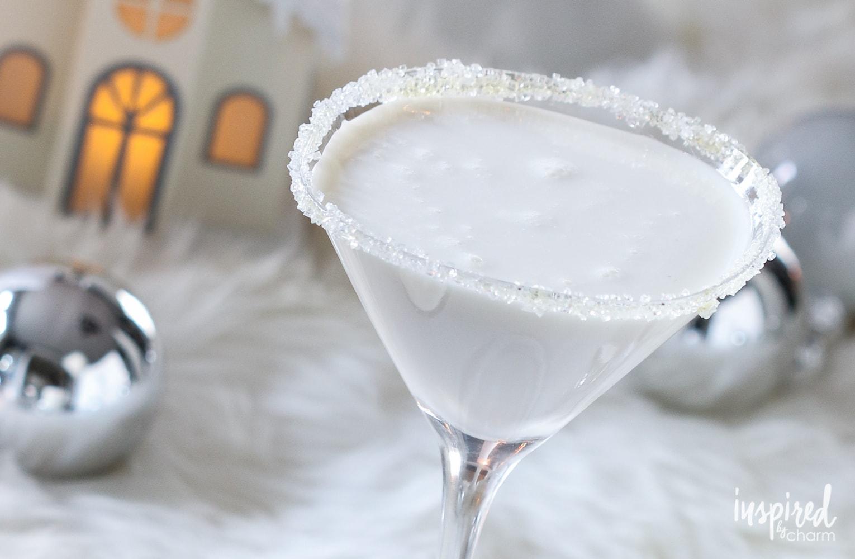 White Christmas Martini | inspiredbycharm.com