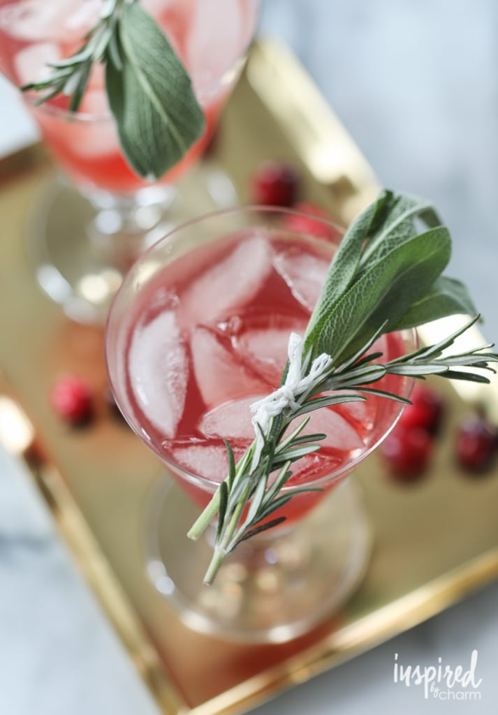 Cranberry Bourbon Cocktail | inspiredbycharm.com