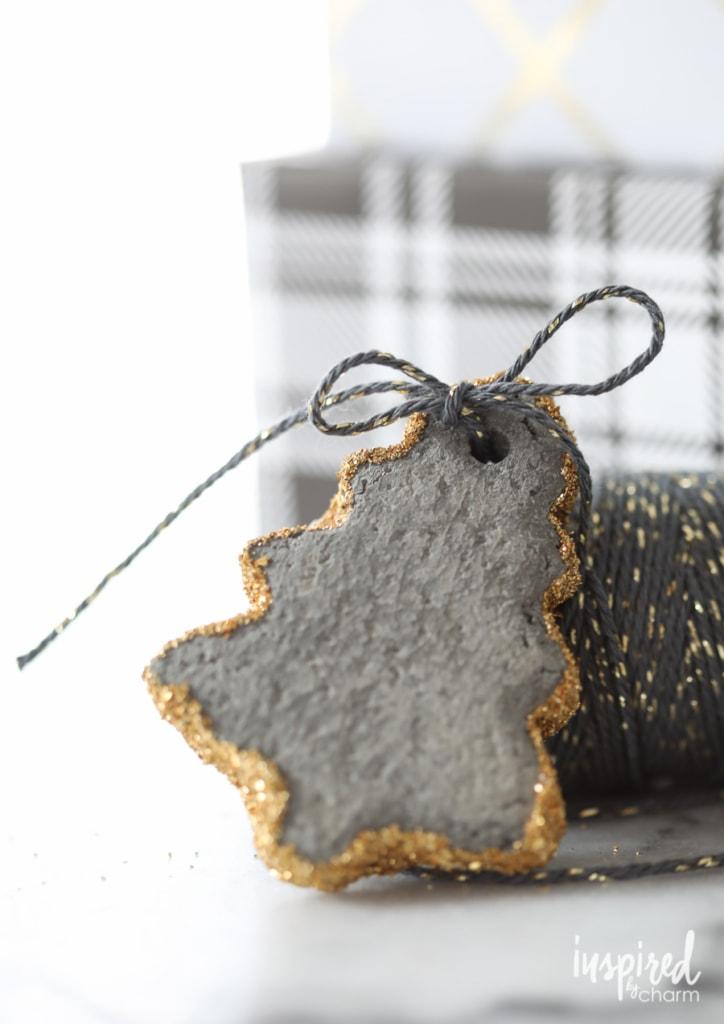 DIY Concrete Ornaments | inspiredbycharm.com