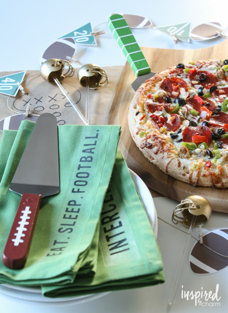 DIY Football Pizza Party | inspiredbycharm.com