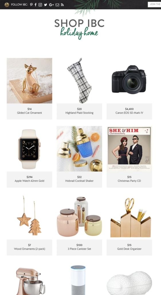 Shop IBC: Holiday Shopping Simplified