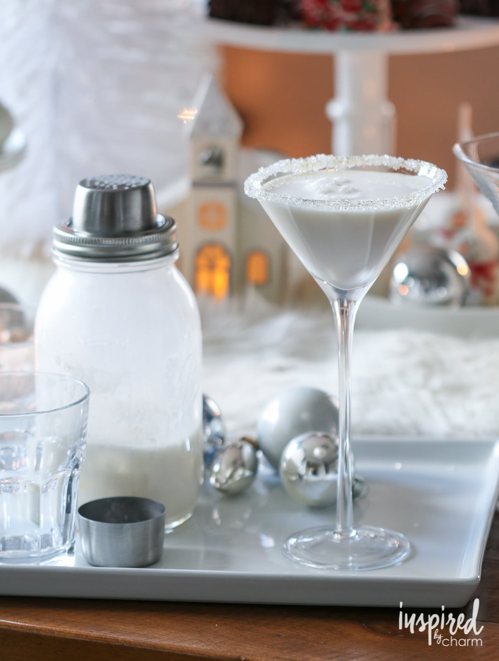 White Christmas Martini - Inspired by Charm