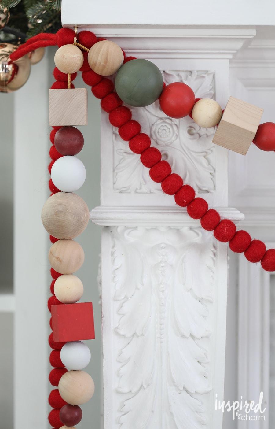 DIY Oversized Wood Bead Garland #garland #christmas #gift #DIY #handmade