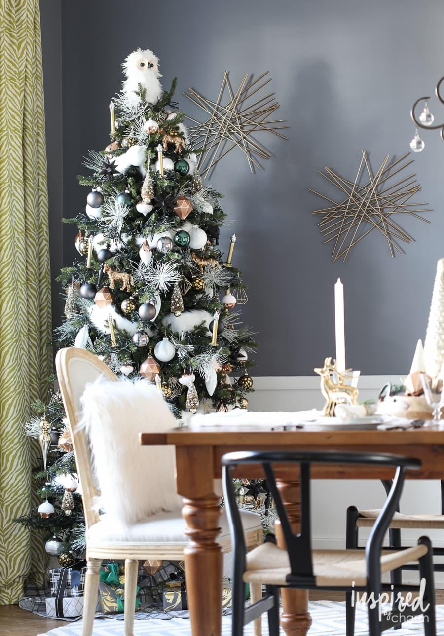 Faux Fur Christmas Tree