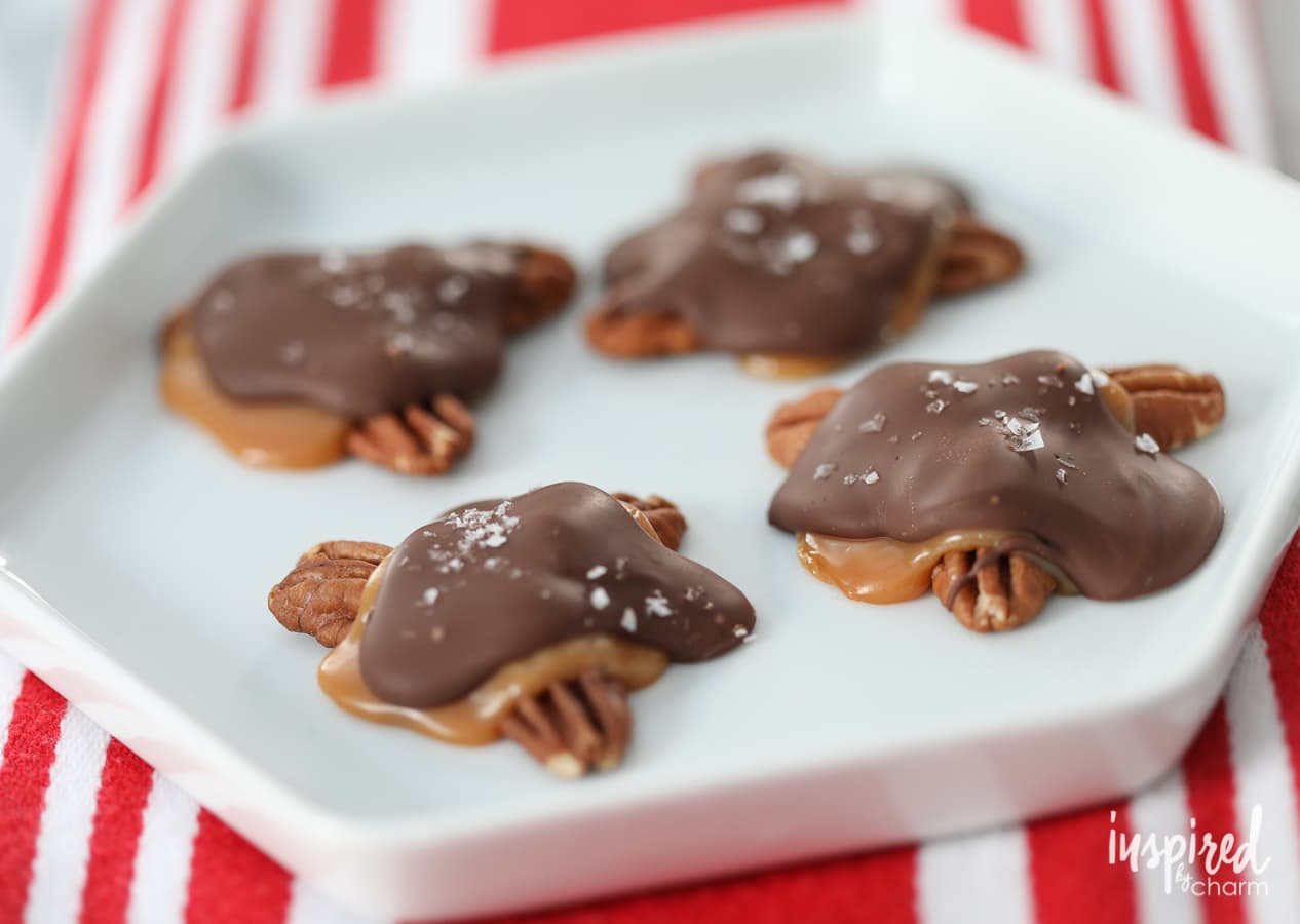 Homemade Chocolate Turtles Delicious Candy Recipe