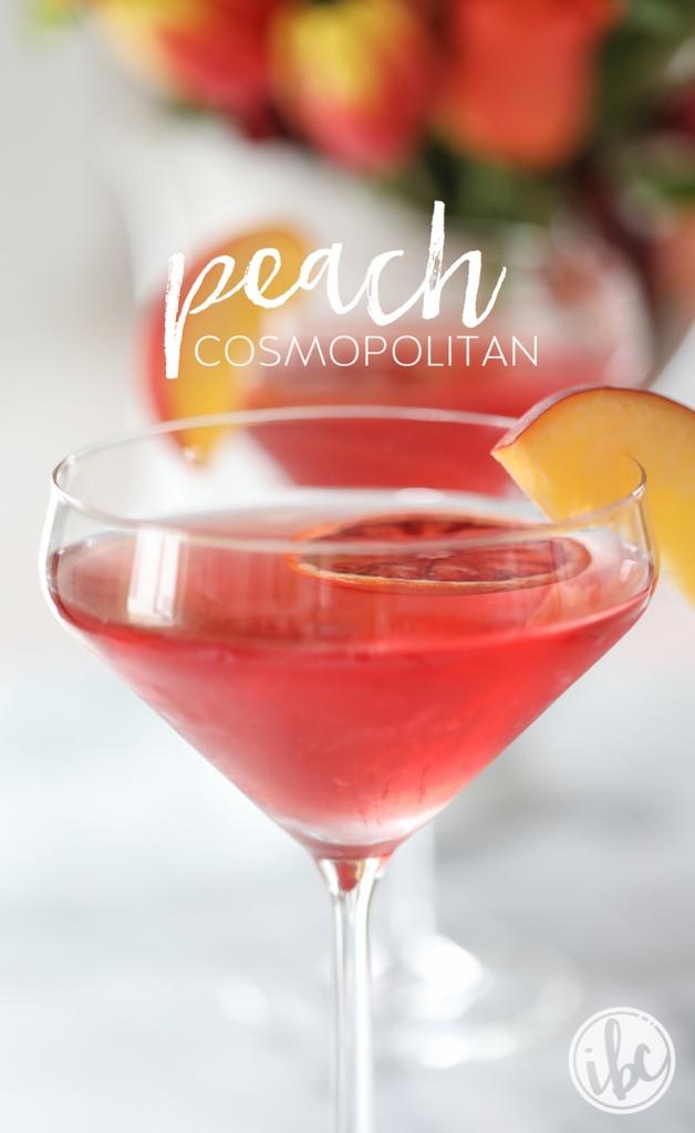 Peach Cosmopolitan martini cocktail recipe
