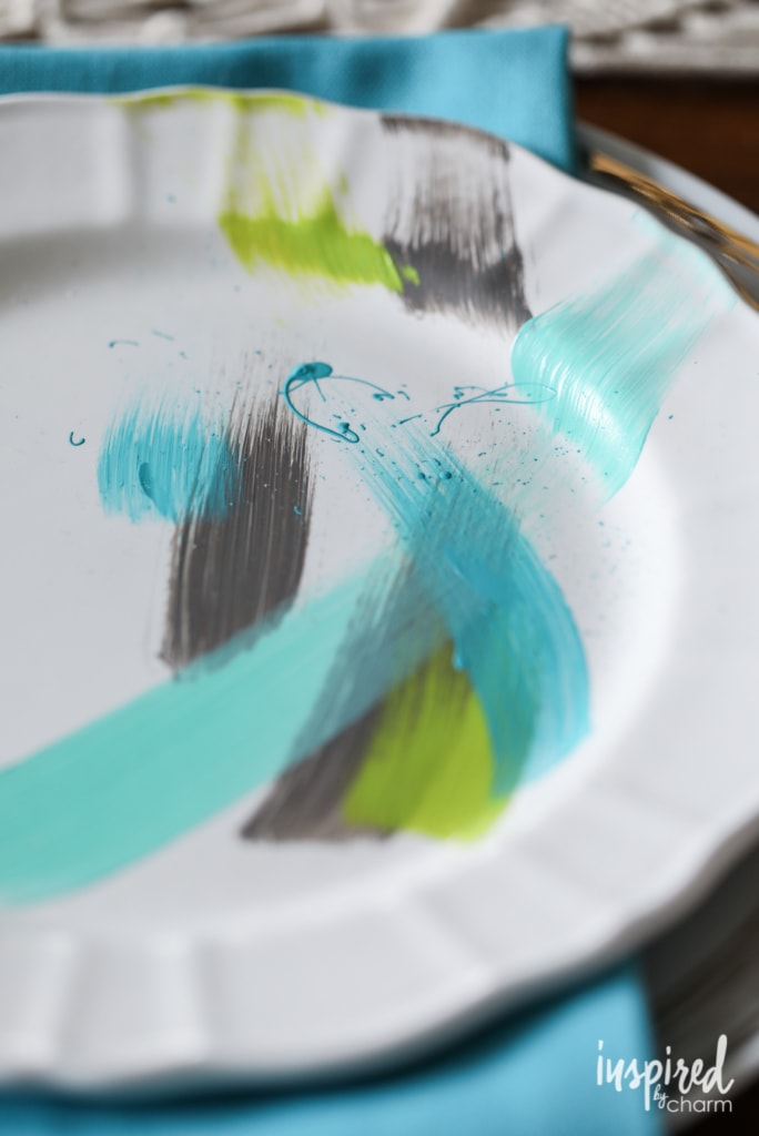 Brushstroke Painted Plates: Part 2 | Inspired by Charm