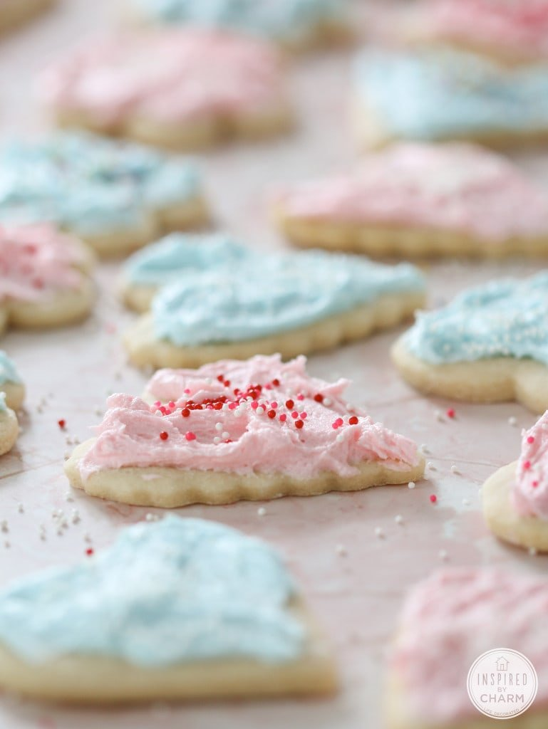 Heart Sugar Cookies with Cotton Candy Frosting - 10 Recipes to Celebrate Valentine's Day