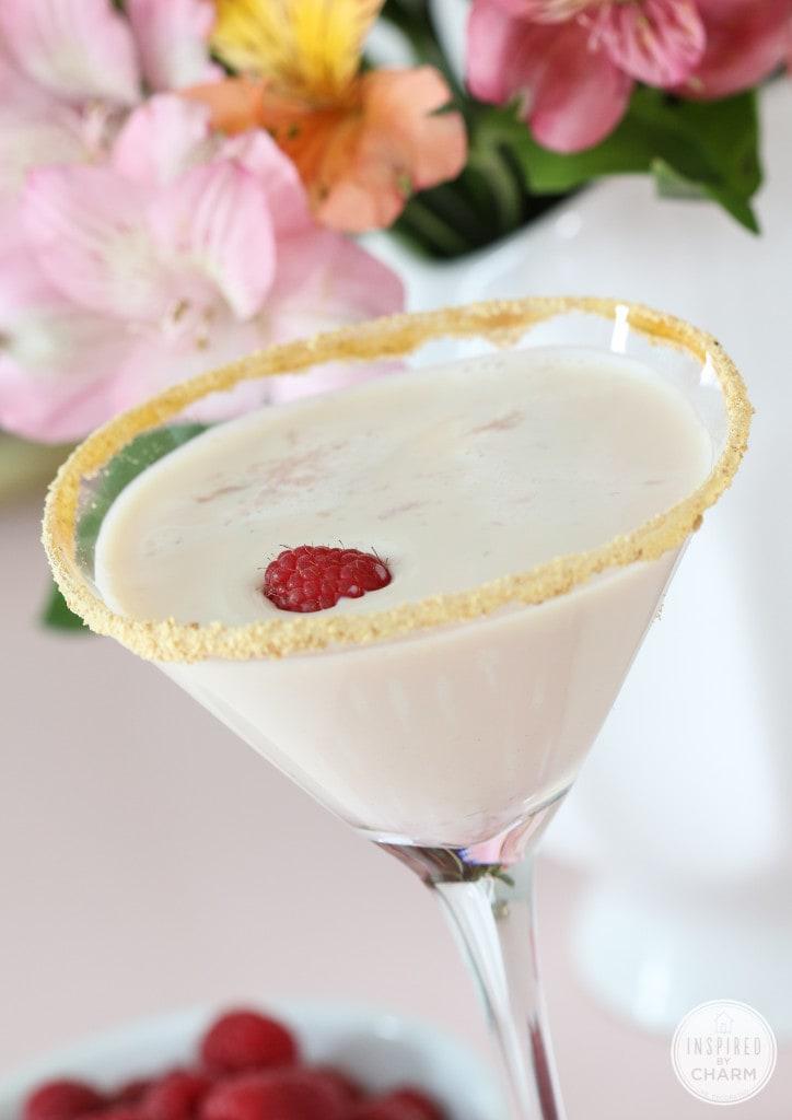 Raspberry Cheesecake Martini - 10 Recipes to Celebrate Valentine's Day