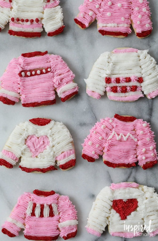 Valentine's Day Sweater Cookies - 10 Recipes to Celebrate Valentine's Day