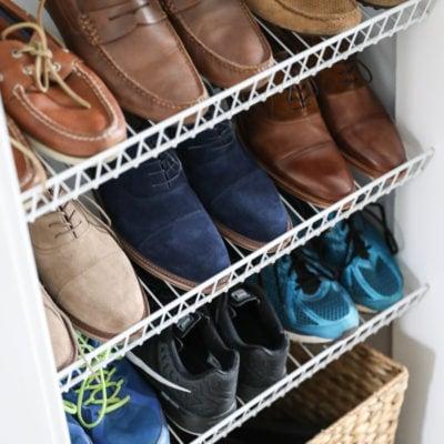 DIY Custom Shoe Storage   Inspired by Charm