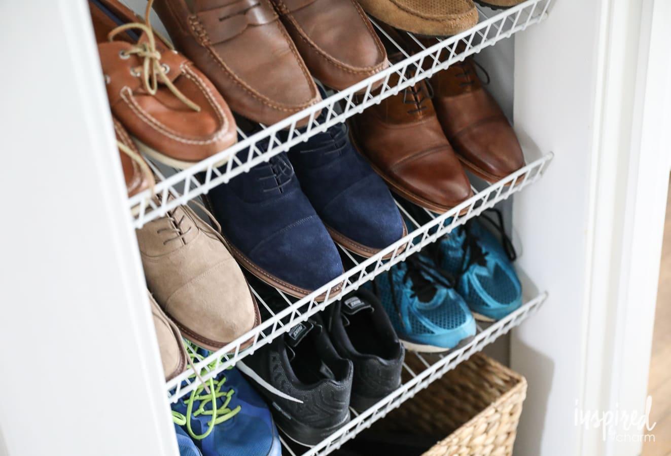 Diy Custom Shoe Storage Room Wiring And Shelving