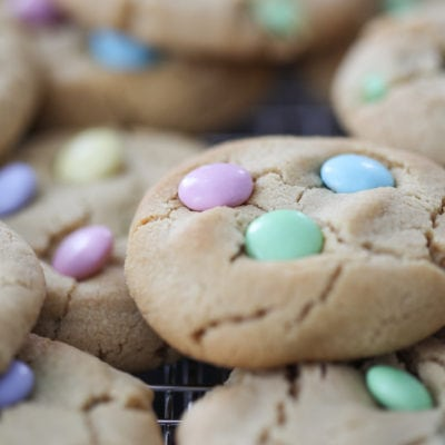 Soft Peanut Butter Cookies for Spring and Easter - peanut butter and chocolate cookie dessert recipe