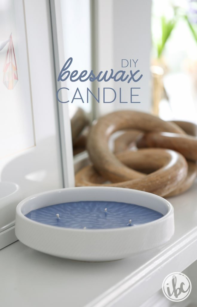 Learn how to make your own candles with this DIY Beeswax Candle making tutorial | Inspired by Charm