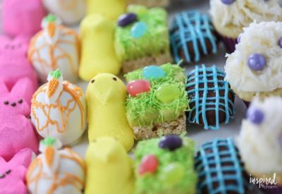 Easter Dessert Kabobs - Spring / Easter rainbow dessert recipe | Inspired by Charm