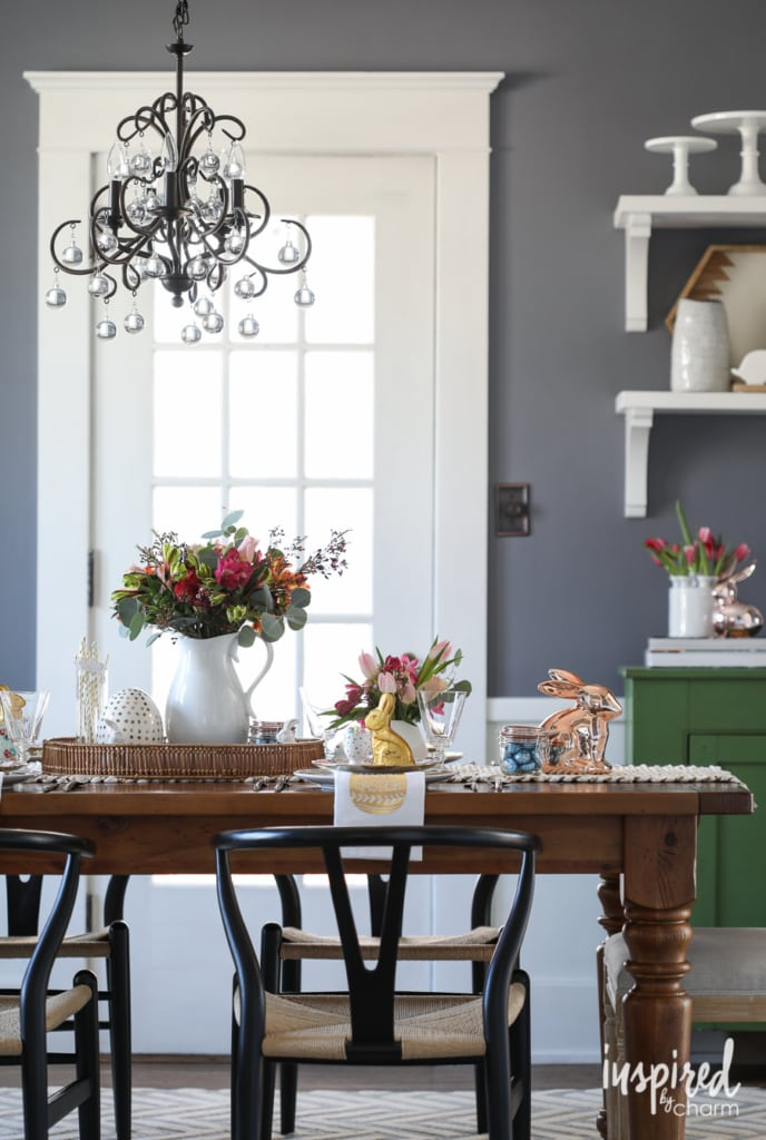 Easter Entertaining Ideas   Spring Tablescape and Easter Basket Tips