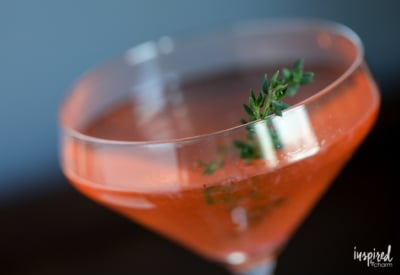 Strawberry Thyme Martini - spring cocktail martini recipe ideas   Inspired by Charm
