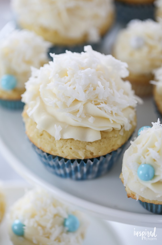 The Ultimate Coconut Cupcakes dessert recipe | Inspired by Charm