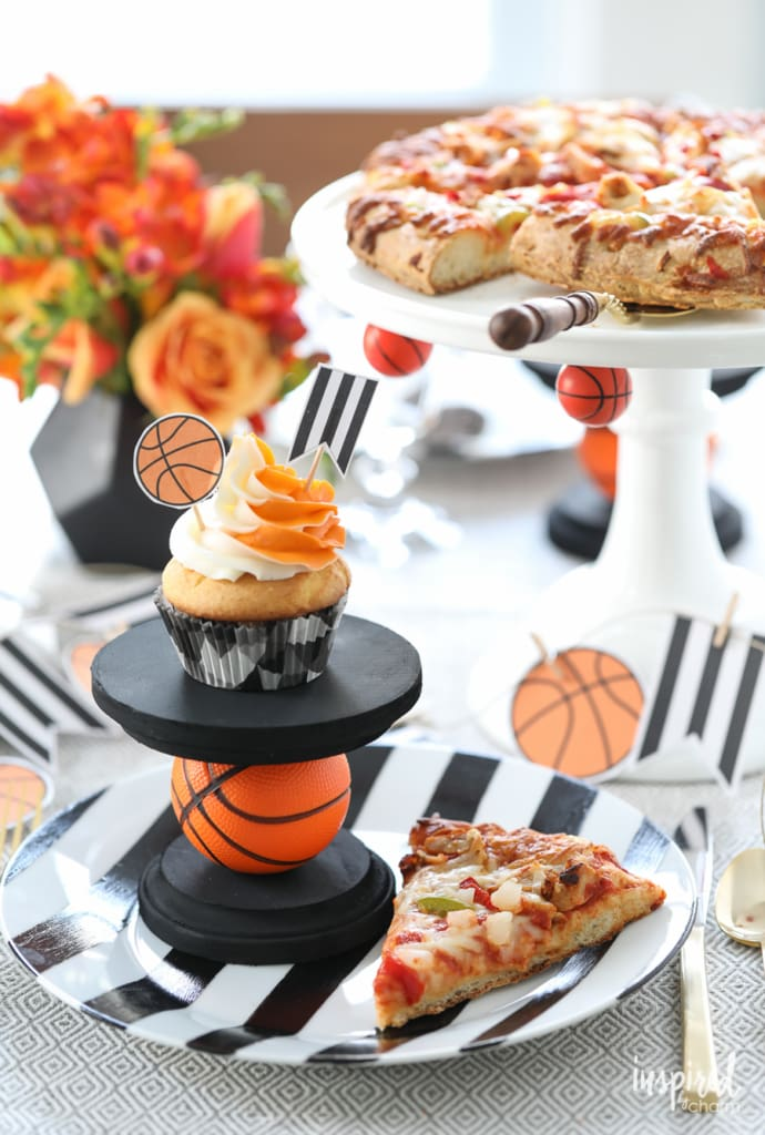 DIY Basketball Entertaining Ideas - basketball party decor | Inspired by Charm