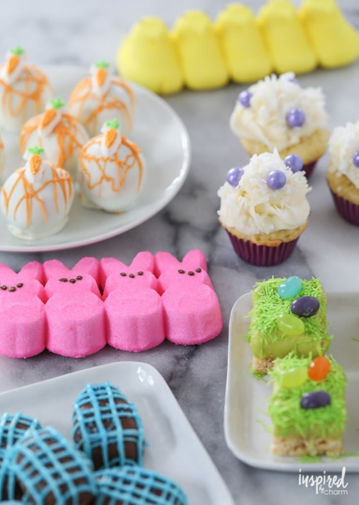 Easter Dessert Kabobs - Spring / Easter rainbow dessert recipe ideas | Inspired by Charm