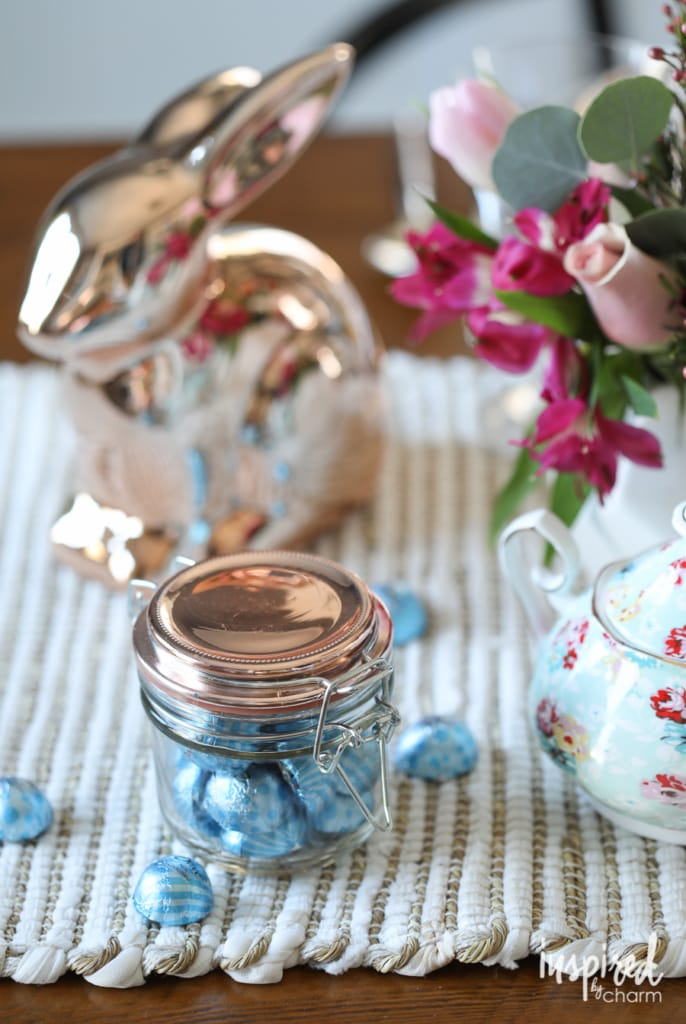 Easter and spring decorating ideas - An Eclectic and Colorful Easter Table | Inspired by Charm