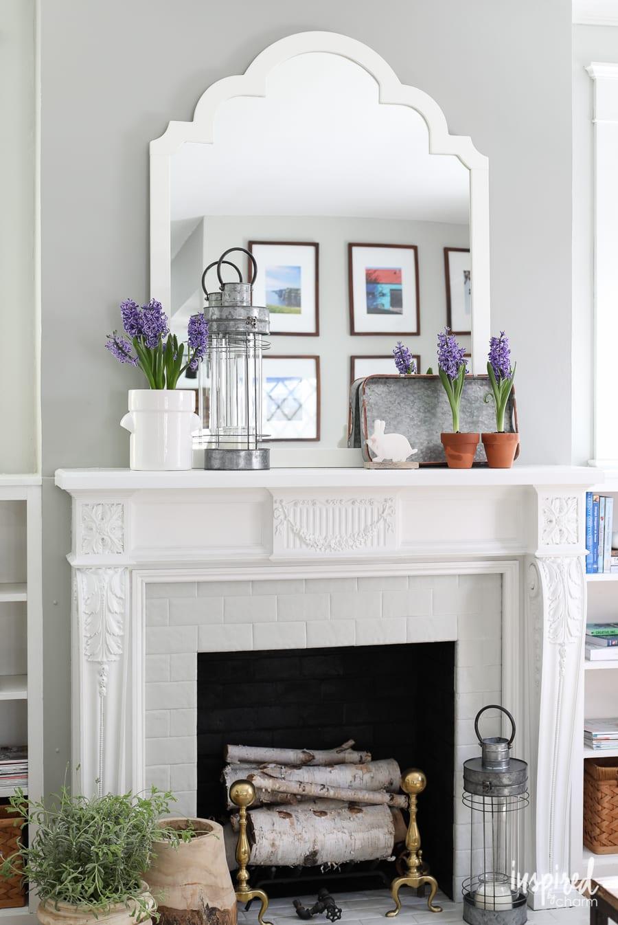 Living Room Mantel Decorating Modern Farmhouse Mantel Decor 2 Ways Inspired By Charm