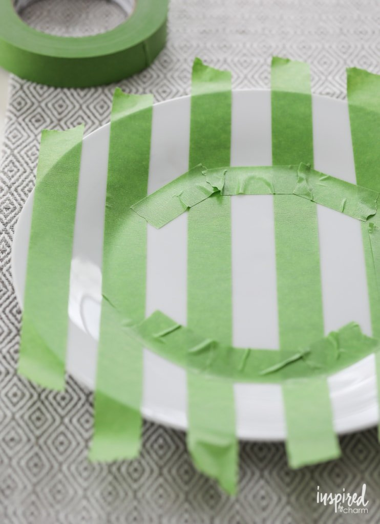 DIY Painted Party Dinner Plates - DIY Basketball Entertaining Ideas | Inspired by Charm