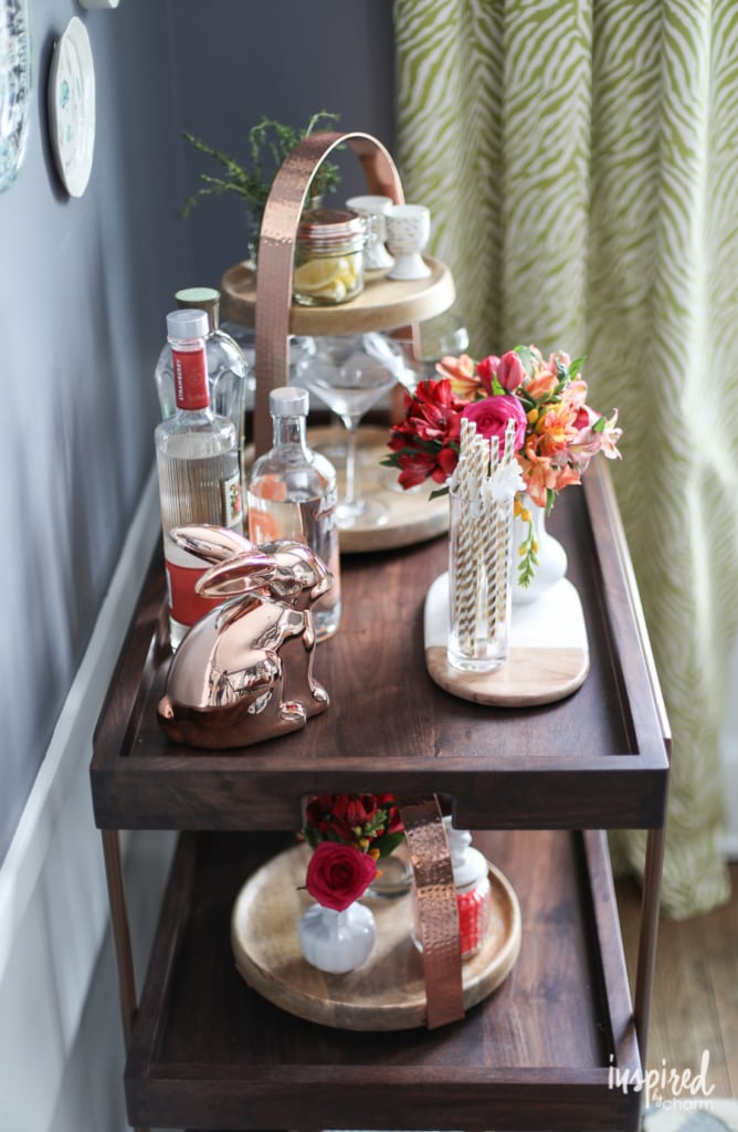 Spring Bar Cart | Inspired by Charm