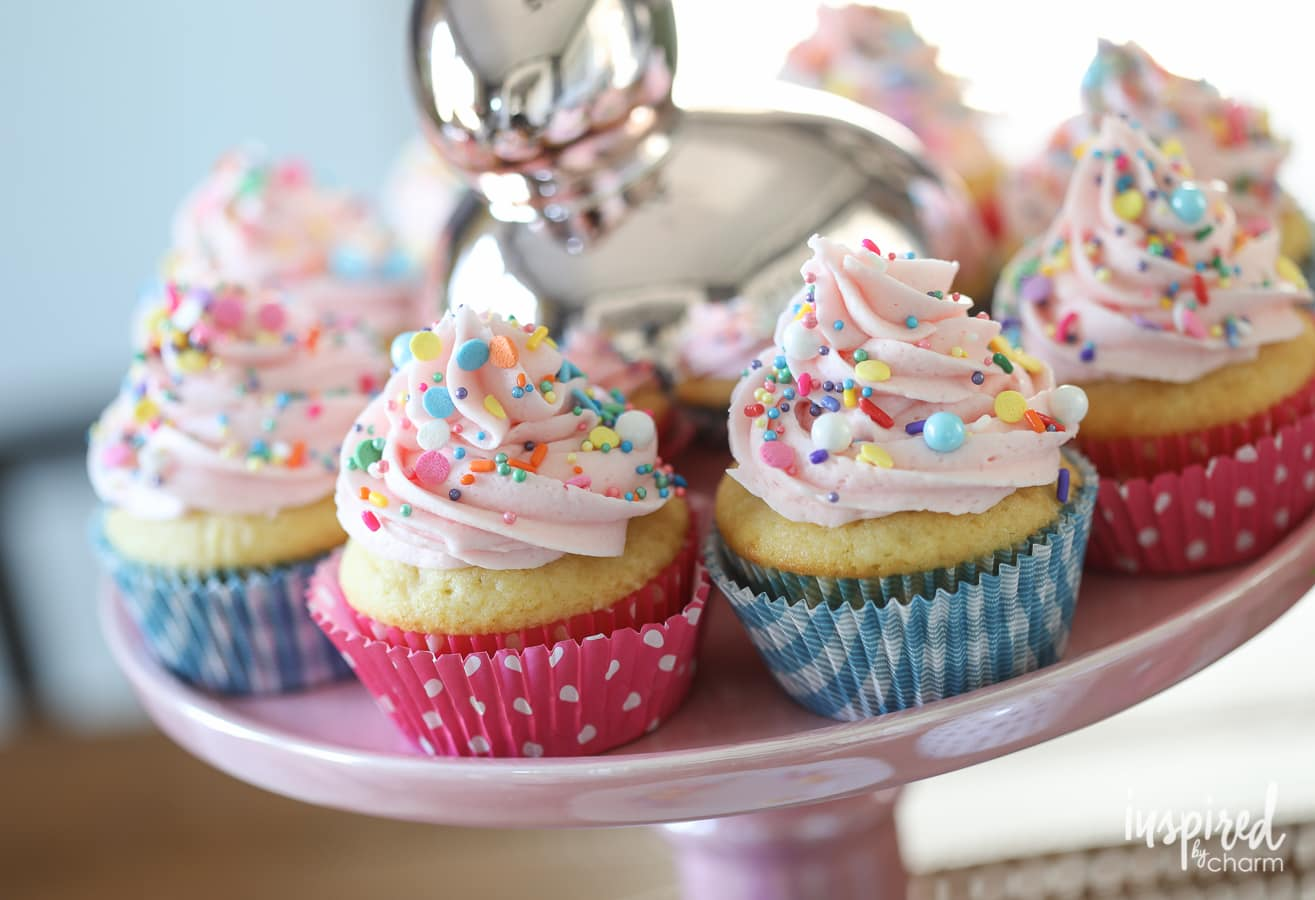 Surprise-Inspired Spring Cupcakes - cupcake dessert recipe for Spring and Easter | Inspired by Charm