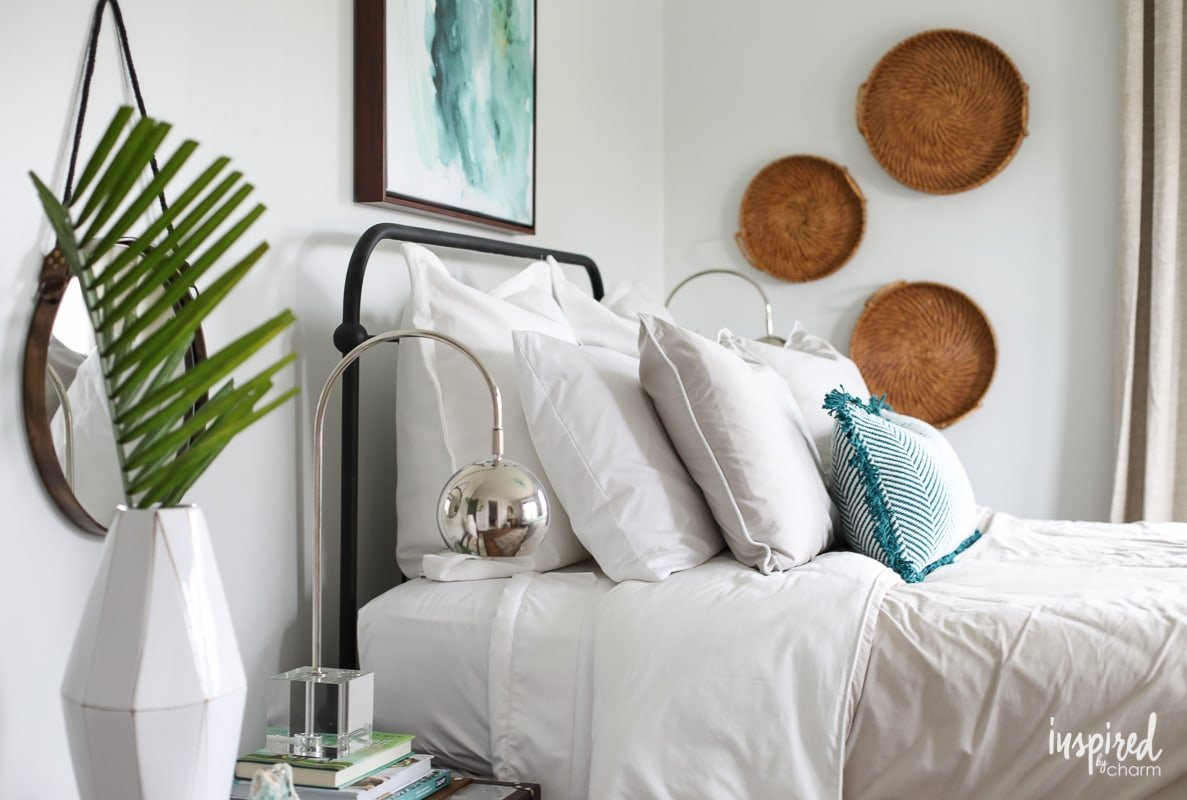 Tips, Tricks, and Ideas for Updating Your Guest Bedroom Decor | Inspired by Charm