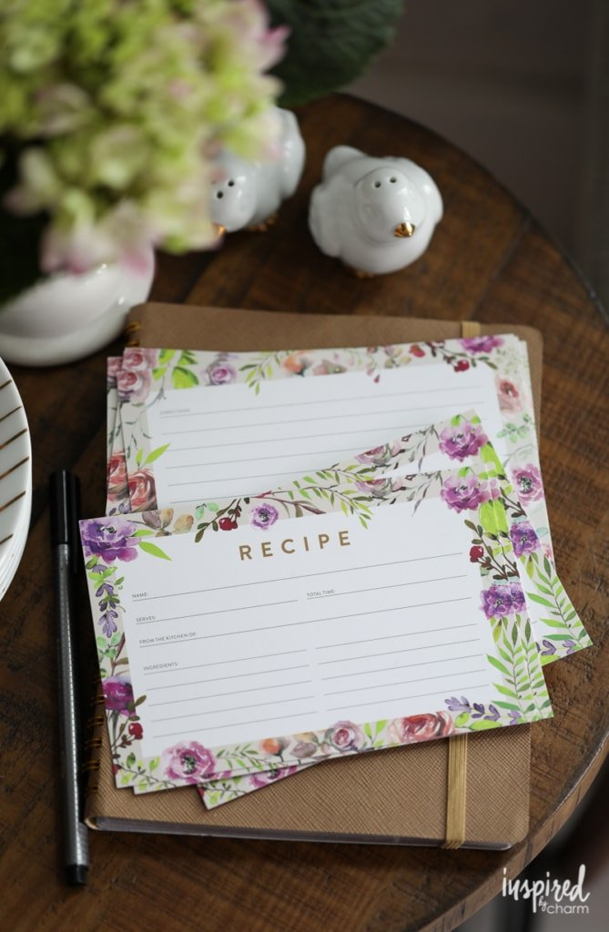 Free Spring Recipe Card Printable Download | Inspired by Charm