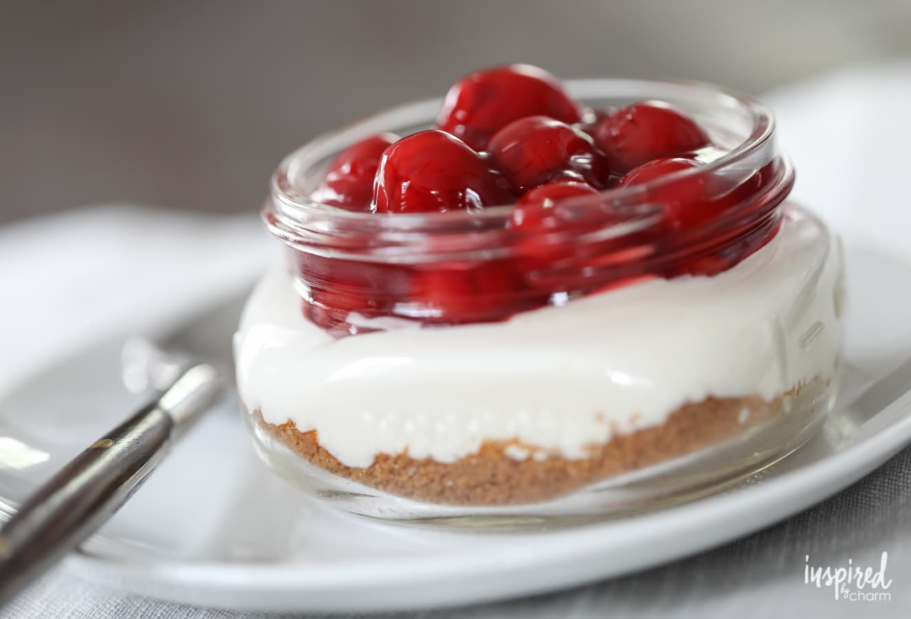 Mason Jar Cherry Supreme - classic summer dessert recipe | Inspired by Charm
