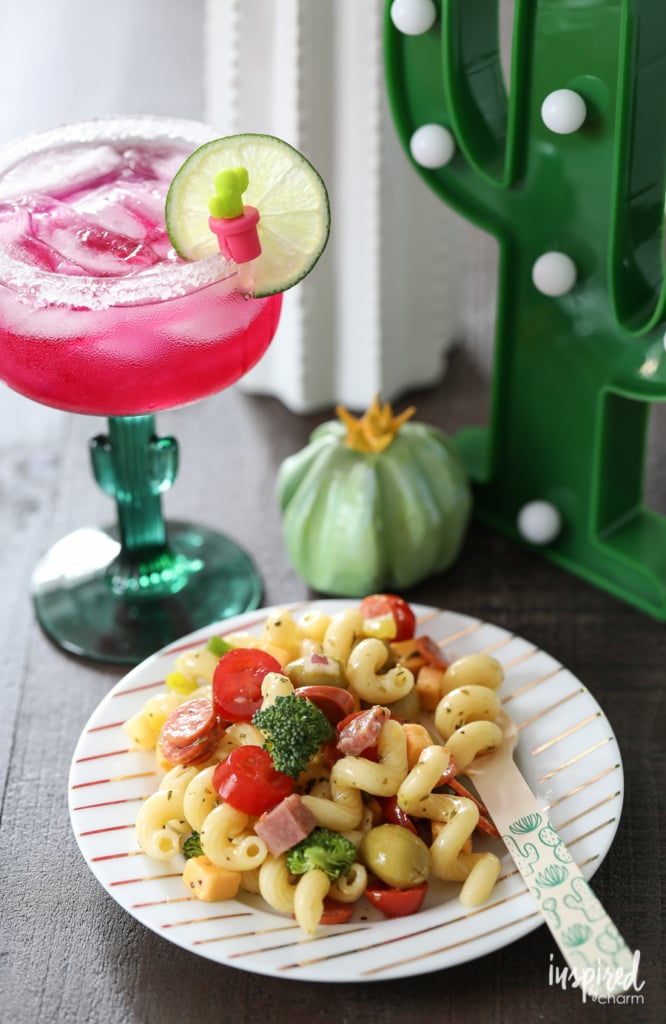 Cactus Themed Party ideas for a unique and fun celebration complete with Prickly Pear Margaritas | Inspired by Charm