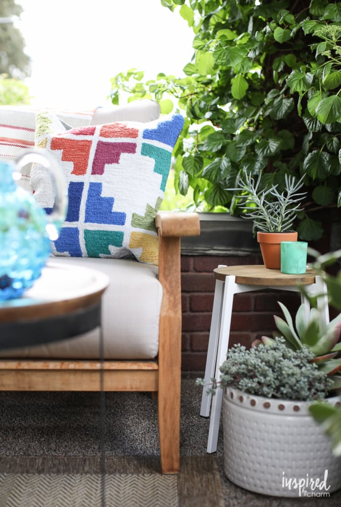 Colorful Summer Porch Styling - outdoor summer decorating ideas | Inspired by Charm