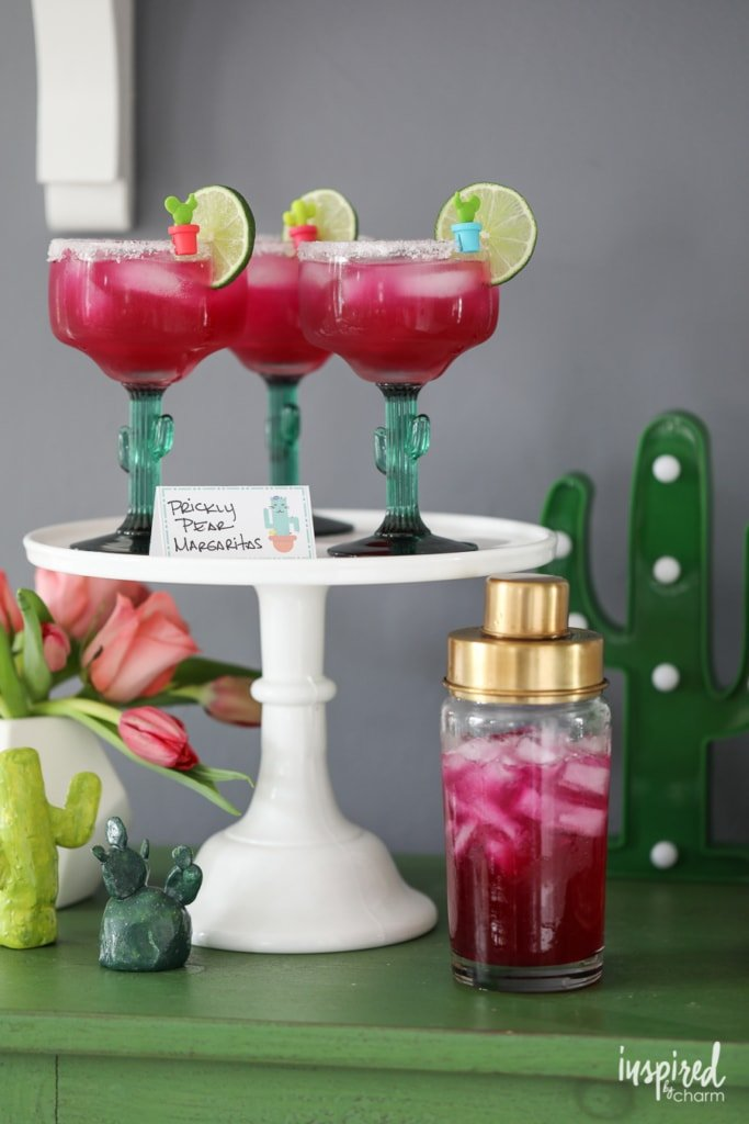 Prickly Pear Margarita - bold colors and sweet taste make this margarita recipe perfect for summer celebrations! | Inspired by Charm