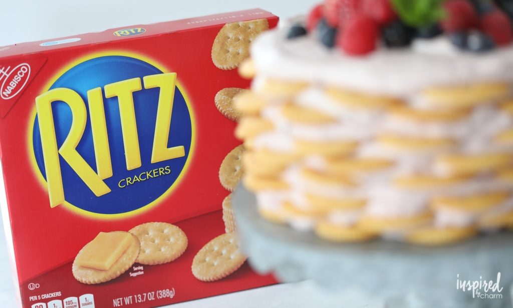 Ritz Cracker and Mixed Berry Icebox Cake summer dessert recipe | Inspired by Charm