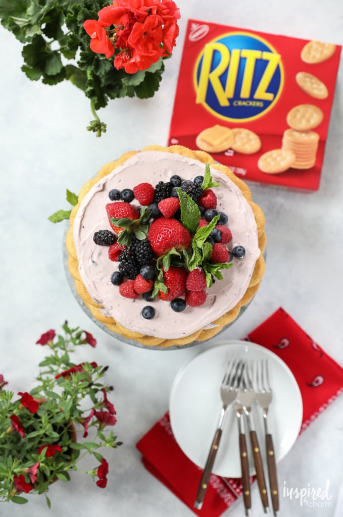 This Ritz Cracker and Mixed Berry Icebox Cake is the perfect dessert for summer entertaining. | Inspired by Charm